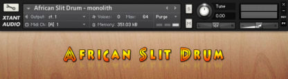 Free ethnic african slit drum sample library