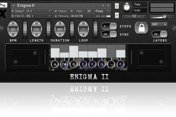 Enigma 2 found sound sample library for Kontakt