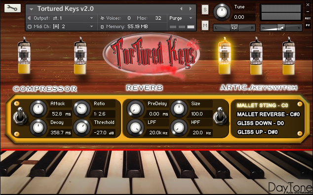 Tortured Keys GUI